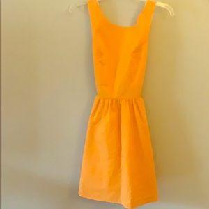 Lauren James Orange Emerson Dress